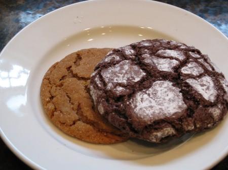 Zebra Fudge Cookie and Molasses Cookie
