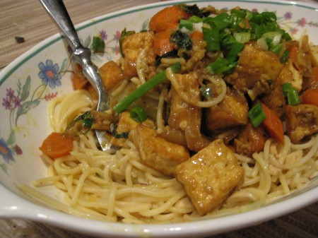 curried noodles stir fry