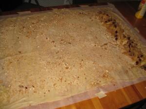 apple filling on dough