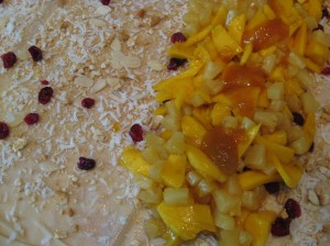 Mango-Pineapple Strudel