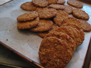 baked anzac biscuits