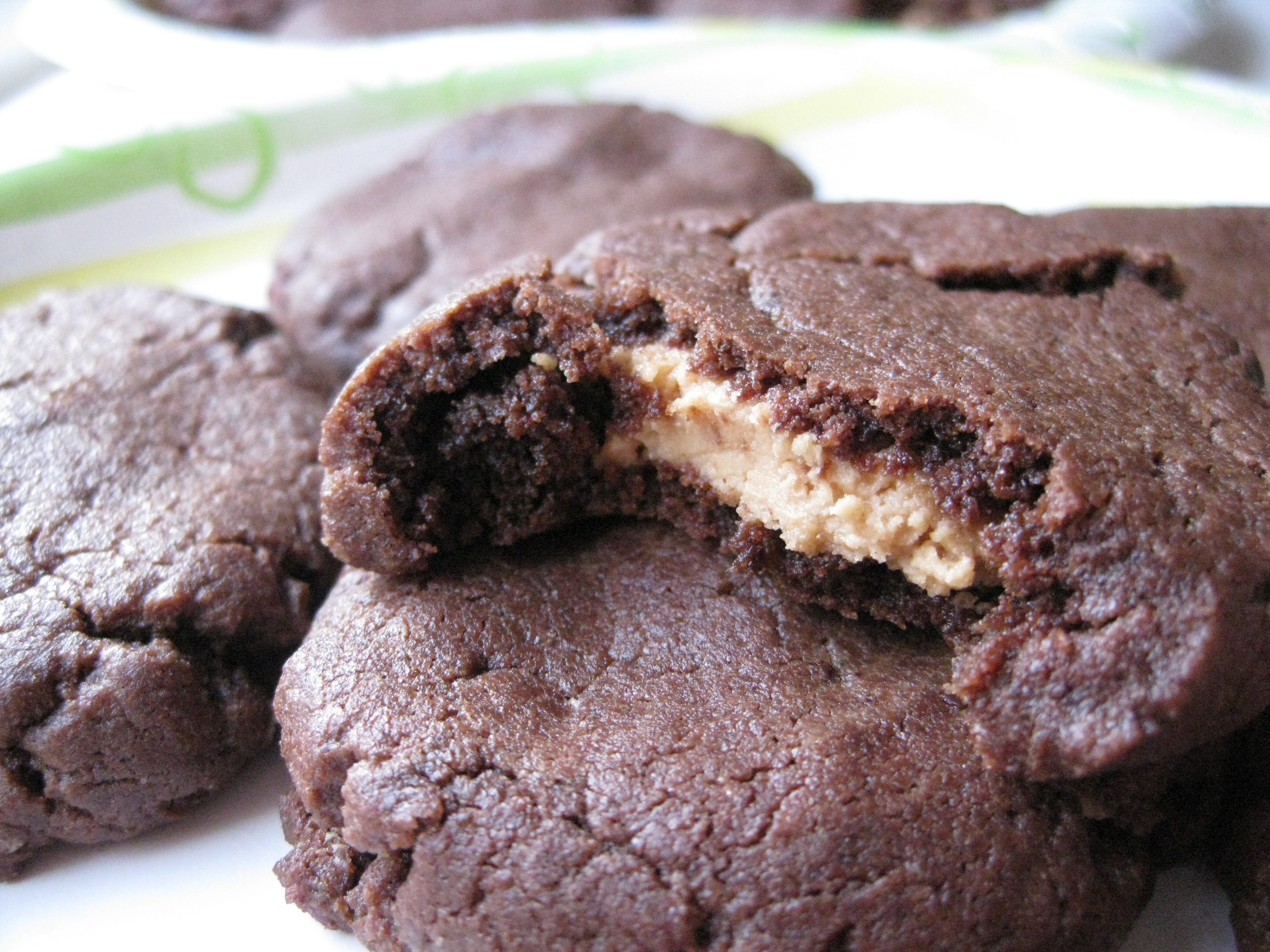 Peanut Butter Filled Chocolate Cookies | Pragmatic Attic