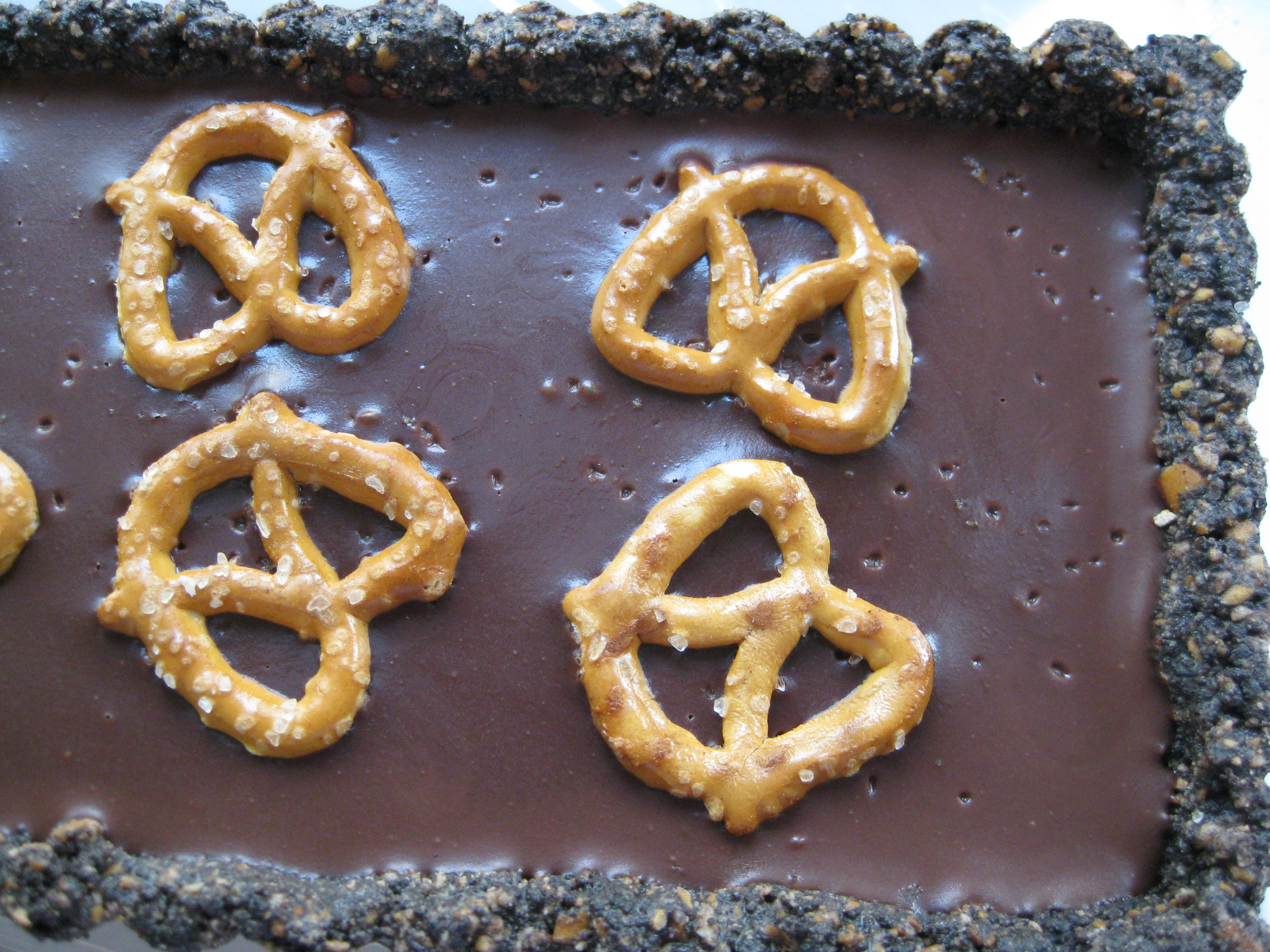 Chocolate Pretzel Tart   Pragmatic Attic