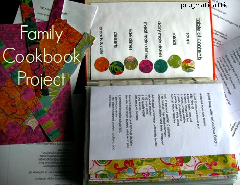family cookbook project pragmatic attic